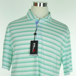 NEW RLX GOLF Ralph Lauren Polo Shirt Green White